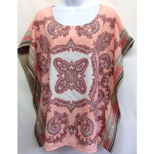 New York & Company Tops - New York & Company Top Paisley Poncho Style